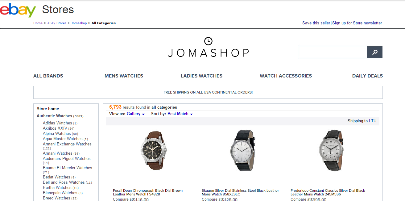 Jomashop Shopfans